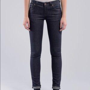 Nudie Jeans Skinny Lin Dry Steel - Size W24/L32